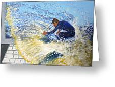 Surfing The Net Greeting Card by Bill Ogg