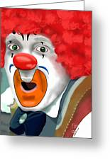 Surprised Clown Greeting Card by Methune Hively