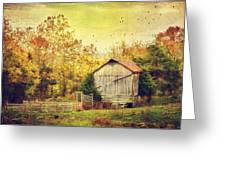 Surrounded By Fall Greeting Card by Kathy Jennings