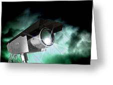 Surveillance, Conceptual Image Greeting Card by Victor Habbick Visions