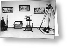 Surveillance Equipment, 19th Century Greeting Card by Science Source