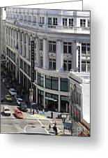 Sutter Street East View Greeting Card by Wingsdomain Art and Photography