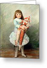 Suzanne Greeting Card by Pierre Auguste Renoir