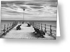 Swanage Pier Greeting Card by Richard Garvey-Williams