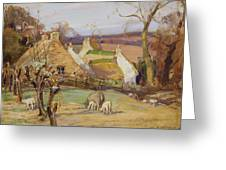 Swanston Farm Greeting Card by Robert Hope