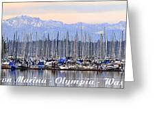 Swantown Marina Olympia Wa Greeting Card by Larry Keahey