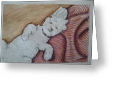 Sweepy Greeting Card by Dana Mitchell
