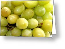 Sweet Green Grapes Greeting Card by Barbara Griffin