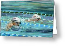 Swimmers Greeting Card by Paul Mitchell