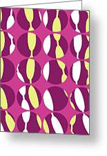 Swirly Stripe Greeting Card by Louisa Knight