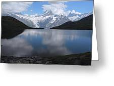 Swiss Alps And Clouds Casting Greeting Card by Anne Keiser