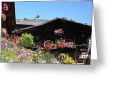 Swiss Chalet Interlaken Greeting Card by Marilyn Dunlap
