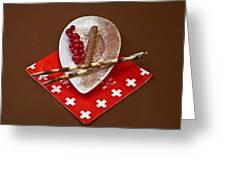 Swiss Chocolate Praline Greeting Card by Joana Kruse