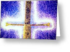 Sword with sparks Greeting Card by Garry Gay