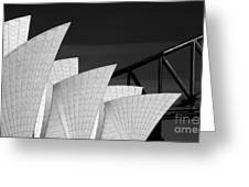 Sydney Opera House With Bridge Backdrop Greeting Card by Sheila Smart