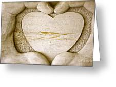 Symbol Of Love Greeting Card by Ted Wheaton