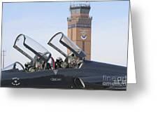T-38 Talon Pilots Make Their Final Greeting Card by Stocktrek Images