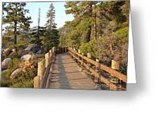 Tahoe Bridge Greeting Card by Silvie Kendall