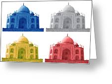 Taj Mahal Colorful Style Greeting Card by Atthamee Ni