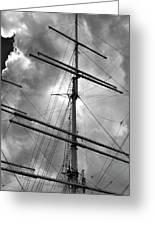 Tall Ship Masts Greeting Card by Robert Ullmann