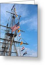 Tall Ships Banners Greeting Card by David Bearden
