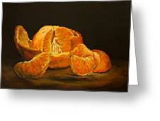 Tangerine Tango Greeting Card by Diane Kraudelt