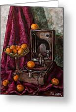 Tangerines Greeting Card by Boris Filinov