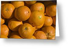Tangerines Greeting Card by Tim Mulina