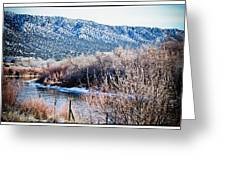 Taos Creek Greeting Card by Lisa  Spencer