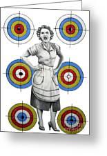 Target In Law Greeting Card by Murphy Elliott