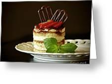 Taste Of Italy Tiramisu Greeting Card by Inspired Nature Photography By Shelley Myke