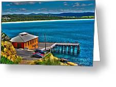 Tathra Wharf Greeting Card by Joanne Kocwin