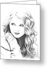 Taylor Swift Greeting Card by Rosalinda Markle