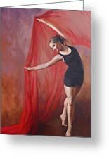 Taylor's Dance Greeting Card by Anna Bain