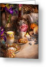 Tea Party - The Magic Of A Tea Party  Greeting Card by Mike Savad