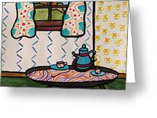 Tea Time Greeting Card by John  Williams