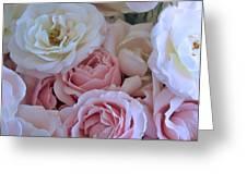 Tea Time Roses Greeting Card by Carol Groenen