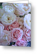 Tea Time Roses Greeting Card by Carol Groenen