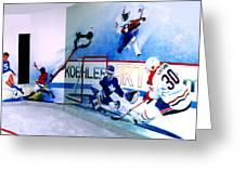 Team Sports Mural Greeting Card by Hanne Lore Koehler