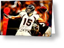 Tebow Greeting Card by Paul Van Scott