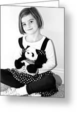 Teddy Bear Greeting Card by Susan Leggett