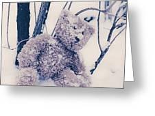 teddy in snow Greeting Card by Joana Kruse