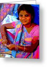 Teenage Girl Greeting Card by Vijay Sharon Govender