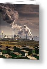 Teesside Refinery, England Greeting Card by John Short