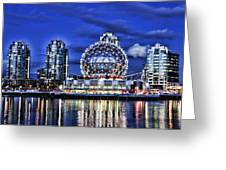 Telus Science Center Vancouver Bc Greeting Card by Lawrence Christopher