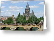 Temple Neuf De Metz Metz France Greeting Card by Joseph Hendrix
