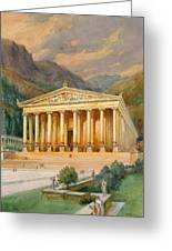 Temple Of Diana Greeting Card by English School