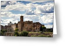 Temple Of Venus And Roma Greeting Card by Fabrizio Troiani