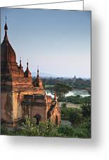 Temples Of Bagan Greeting Card by Nina Papiorek