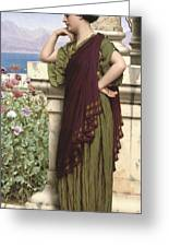 Tender Thoughts Greeting Card by John William Godward